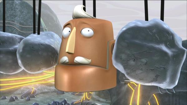 Roboter Buckingham ist gefangen.   Rechte: KiKA/HR/Taffy Productions LLC