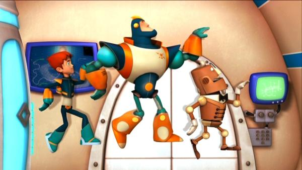 Robbie, Ray und seine Mannschaft bekommen Konkurrenz im Superhelden-Geschäft. | Rechte: Ki.KA/HR/Taffy Productions LLC