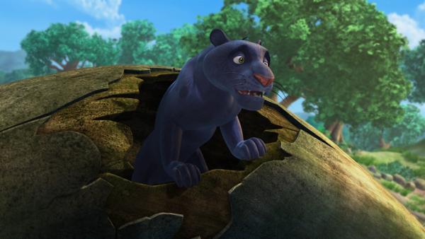 Baghira ist immer zur Stelle, wenn Mowgli Hilfe braucht. | Rechte: ZDF/DQ Entertainment