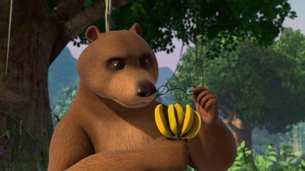 Es wachsen nicht mehr so viele Bananen im Dschungel. Balu ist besorgt und fragt sich, ob es zu wenige Bienen gibt? | Rechte: ZDF/2009(c) DQ Entertainment