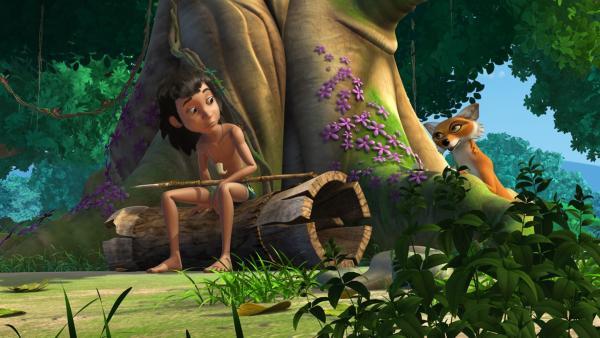 Mogli ist durch die Jagdprüfung gefallen und ist traurig und sauer. Tabaqui nutzt Moglis Verzweiflung aus und erzählt ihm von einem Wunschbaum... | Rechte: ZDF/DQ Entertainment