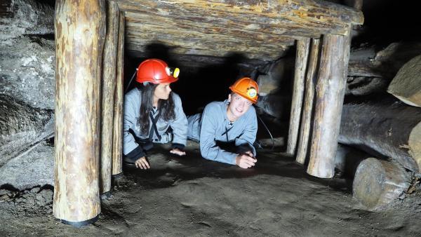 Louisa und Philipp erkunden in Polen die älteste Salzmine Europas tief unter der Erde. | Rechte: ZDF/Agnieschka Jankowska