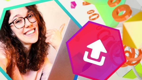 Leontina und Upload-Symbol | Rechte: KiKA
