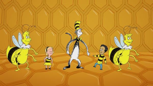 Im Bienenstock erfahren sie vom Schwänzeltanz der Bienen.   Rechte: KiKA/Collingwood O'Hare Prod./Portfolio Entertain./Random House Children E./Treehouse TV