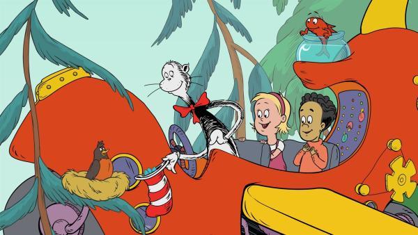 Die Freunde reisen in den Wald von Wagamaruh zu Frau Rotkehlchen. | Rechte: KiKA/Collingwood O'Hare Prod./Portfolio Entertain./Random House Children E./Treehouse TV