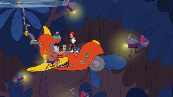 Die Glühwürmchen helfen den Freunden auch in der Dunkelheit etwas sehen zu können | Rechte: KiKA/Collingwood O'Hare Prod./Portfolio Entertain./Random House Children E./Treehouse TV