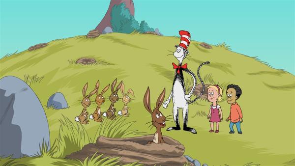 Sally und Nick müssen auf der Hut sein, wie das geht lernen sie von Kitty Kaninchen | Rechte: KiKA/Collingwood O'Hare Prod./Portfolio Entertain./Random House Children E./Treehouse TV