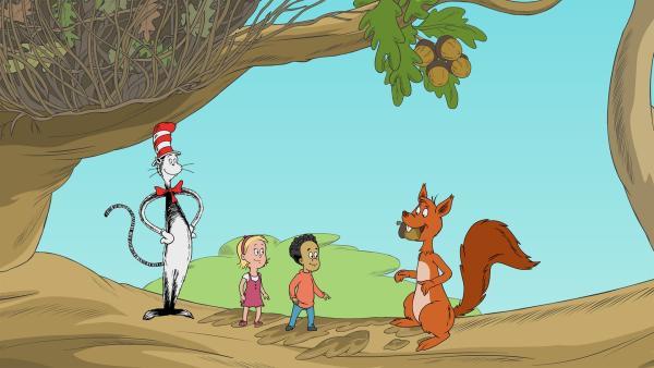 Bucky, das Eichhörnchen, kennt gute Tricks, wie man seine Verstecke wiederfindet. | Rechte: KiKA/Collingwood O'Hare Prod./Portfolio Entertain./Random House Children E./Treehouse TV
