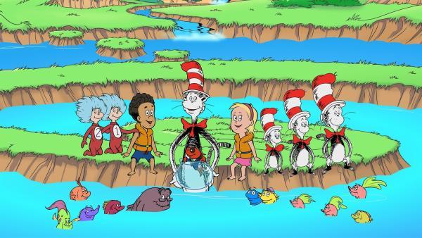 Zu guter Letzt gibt es ein Gruppenbild mit Fischs Familie.   Rechte: KiKA/Collingwood O'Hare Prod./Portfolio Entertain./Random House Children E./Treehouse TV