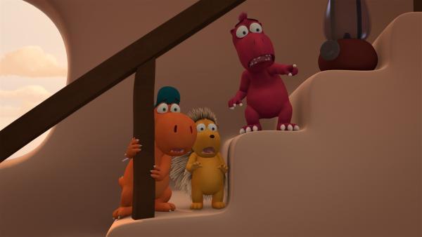 In Kokosnuss' Zuhause passieren plötzlich ganz schön unheimliche Dinge. | Rechte: ZDF/Caligari Film
