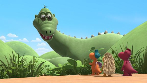 Big Bo ist eigentlich kaum zu übersehen. Aber ein bisschen farbenfroher könnte er schon aussehen, findet Kokosnuss. | Rechte: ZDF/Caligari Film