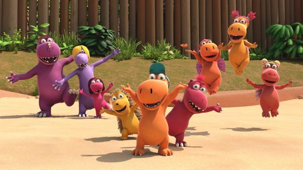 Der kleine Drache Kokosnuss und alle seine Freunde freuen sich riesig auf die Freizeit im Sommercamp. Ob Fressdrachen oder Feuerdrachen, alle sind dabei! Sogar das Stachelschwein Matilda!   Rechte: ZDF/Caligari Film