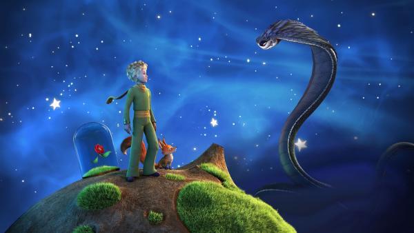 Der kleine Prinz und der Fuchs verlassen ihren Heimatplaneten und Rose, um die Schlange aufzuhalten und die anderen Planeten vor ihr zu schützen. | Rechte: WDR/ARD