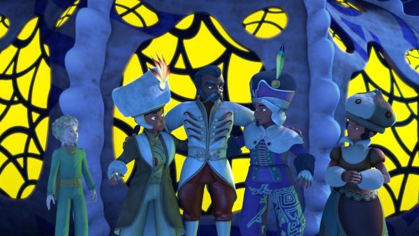 König Askabaar ist überglücklich: mit der Hilfe des kleinen Prinzen hat er<br/>seine Tochter Shila wiedergefunden und übergibt nun die Herrschaft ihrem<br/>Geliebten, Prinz Kris. | Rechte: WDR/ARD