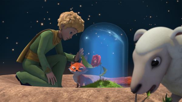 Der kleine Prinz lässt Fuchs und Rose allein auf seinem Asteroiden B612 zurück. | Rechte: WDR/Method Animation/Saint-Exupéry-d'Agay Estate/LPPTV/France Télévisions