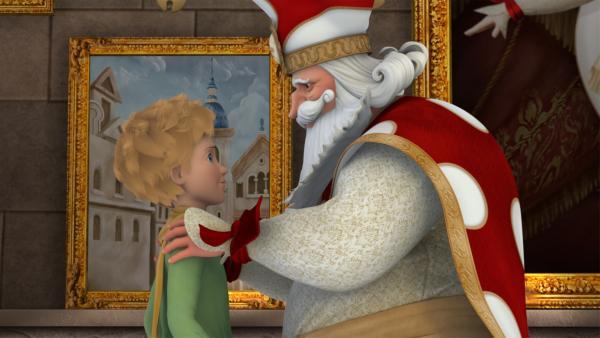 Der große Narr ruft den kleinen Prinzen zur Hilfe, weil auf seinem Planeten alle Theaterkulissen verschwinden. | Rechte: WDR/Method Animation/Saint-Exupéry-d'Agay Estate/LPPTV/France Télévisions