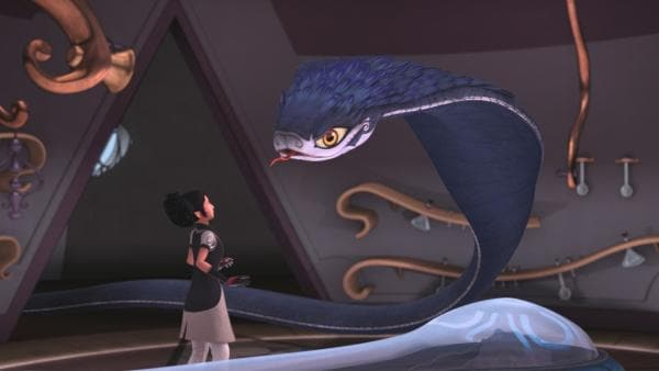 Alizée lässt sich von den Einflüsterungen der Schlange täuschen. | Rechte: WDR/Method Animation/Saint-Exupéry-d'Agay Estate/LPPTV/France Télévisions