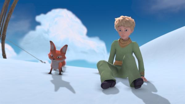 Trotz Schnee und Eis erleben Fuchs und Prinz ein heißes Abenteuer. | Rechte: WDR/Method Animation/Saint-Exupéry-d'Agay Estate/LPPTV/France Télévisions