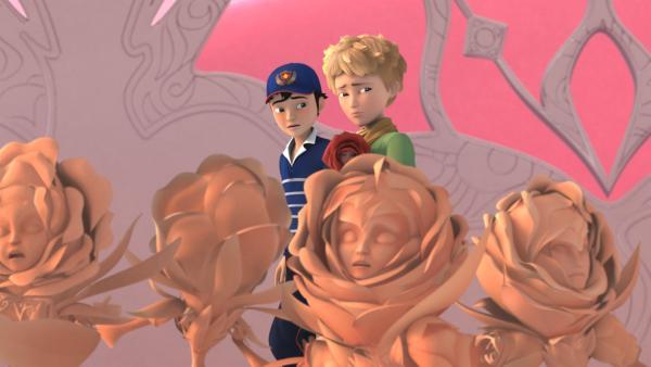 Gruseliger Anblick: Alle Rosen auf dem Planeten sind versteinert. | Rechte: WDR/Method Animation/Saint-Exupéry-d'Agay Estate/LPPTV/France Télévisions