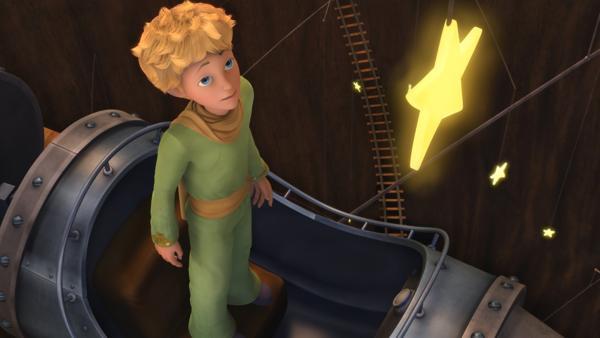 Der kleine Prinz landet auf dem Planeten des Sternenfängers.   Rechte: WDR/ARD