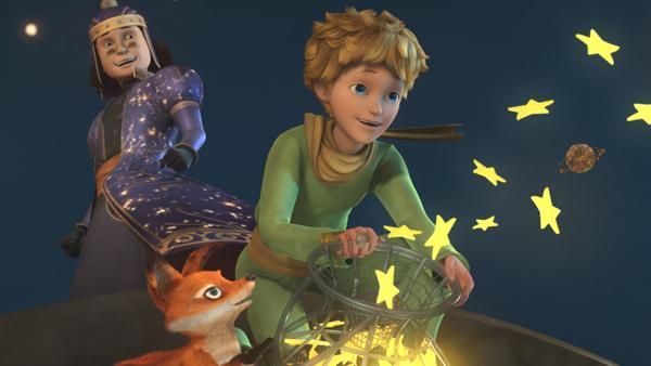 Dem kleinen Prinzen und seinem Freund Fuchs gelingt es, die Sterne wieder zu befreien.   Rechte: WDR/ARD