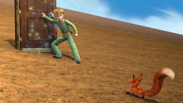 Der kleine Prinz und Fuchs sind auf einem merkwürdigen Planeten gelandet - einem Würfel, der sich ständig bewegt. | Rechte: WDR/ARD