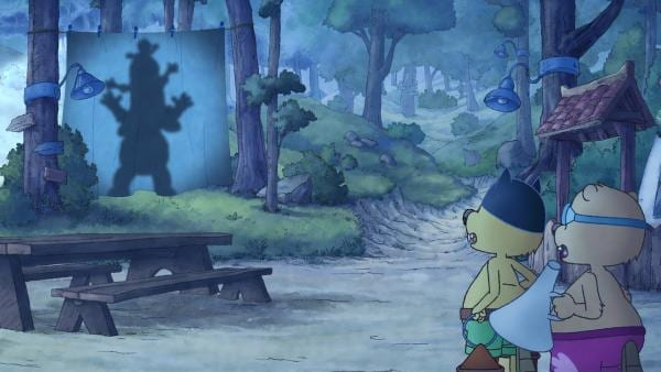 Der Schattenriese macht bei Arthur und Henry mächtig Eindruck. | Rechte: SWR/NDR/Akkord Film
