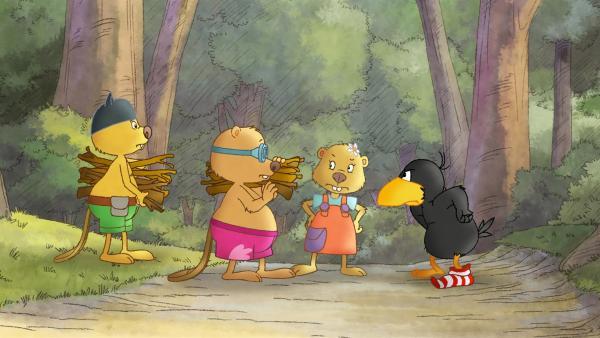 Socke will wissen, was Arthur und Henry vorhaben. | Rechte: SWR/NDR/Akkord Film