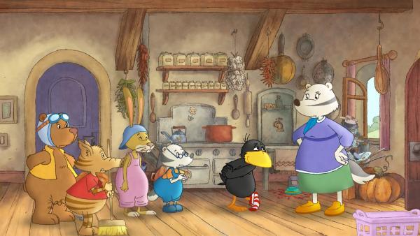 Socke bietet Frau Dachs an den Haushalt zu übernehmen. | Rechte: SWR/NDR/Akkord Film