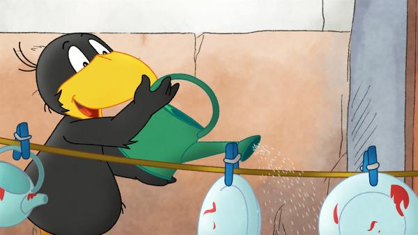 Socke hat seine eigene Methode den Abwasch zu machen. | Rechte: SWR/NDR/Akkord Film