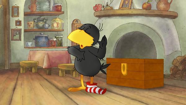 Socke schwört, dass er nichts aus der Kiste klauen wollte. | Rechte: SWR/NDR/Akkord Film