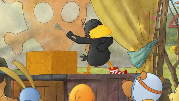 Socke behauptet ein großer Zauberkünstler zu sein. | Rechte: SWR/NDR/Akkord Film