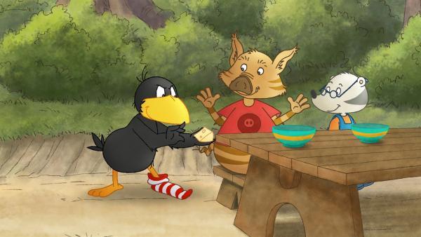 Socke zaubert Stulles Käse weg. | Rechte: SWR/Akkord Film
