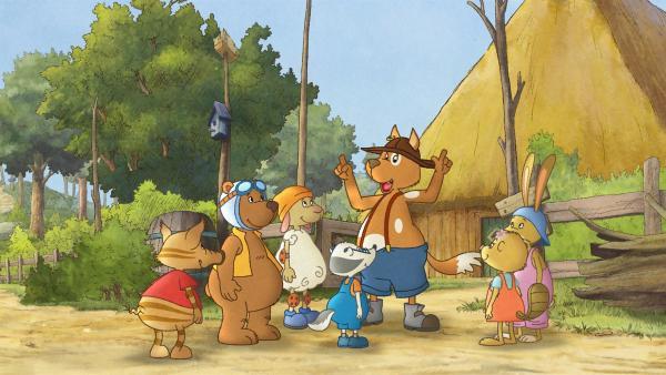Herr Hund veranstaltet für die Kinder ein Hofturnier. | Rechte: SWR/NDR/Akkord Film