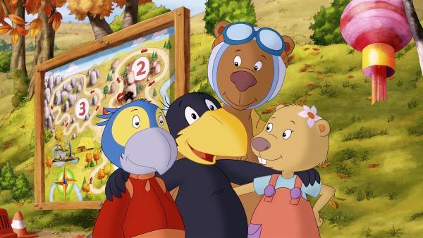 Für Socke und seine Freunde Rinaldo, Fritzi und Eddi steht fest: Freundschaft ist wichtiger als Siegen.  | Rechte: SWR