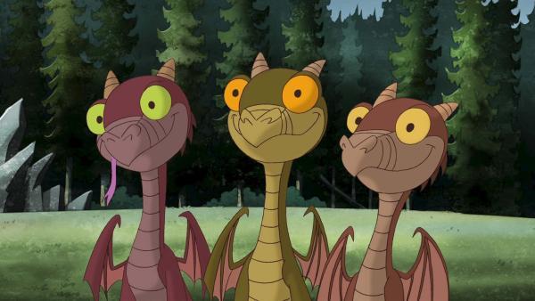Die drei Drachenbabys mit guter Laune. | Rechte: ZDF/blue eyes Fiction/WunderWerk