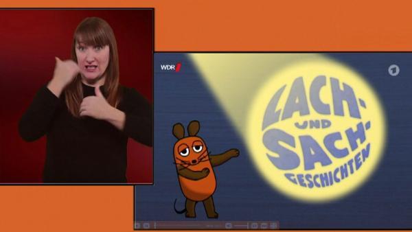 """""""Die Sendung mit der Maus"""" gibt es auch wdrmaus.de auch in einer Version mit Gebärdensprache."""