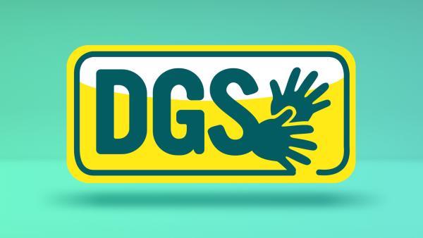 Grafik zeigt die Buchstaben DGS und zwei Hände | Rechte: KiKA
