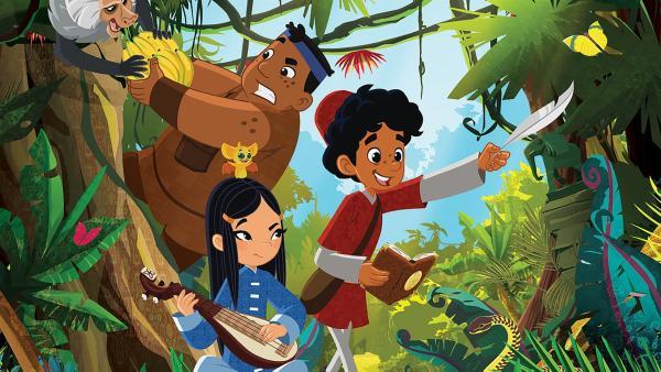 Luigi, Shi La, FuFu und Marco auf ihren neuen Abenteuern nach Madagaskar. | Rechte: MDR/Motion Works