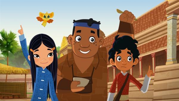 Luigi, Shi La, FuFu und Marco auf ihren neuen Abenteuern nach Madagaskar. | Rechte: MDR/ARD/MotionWorks 2018