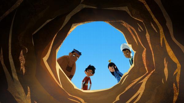 In den Ab Anbars, wie die Zisternen in Hormuz heißen, rieselt nur noch Sand. | Rechte: MDR/MotionWorks/Marco Polo Prod.Inc./Melusine Prod./Magpie 6 Media Ent.Ltd./Monster Ent.Ltd.
