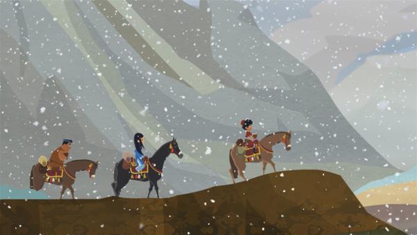 Die drei Freunde machen sich auf den Weg, den Himalaya zu durchqueren. | Rechte: MDR/2013 MotionWorks, Marco Polo