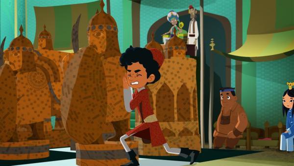 Marco schiebt die Schachfigur. | Rechte: MDR/MotionWorks