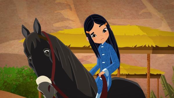 ShiLa auf ihrem Pferd | Rechte: MDR/MotionWorks