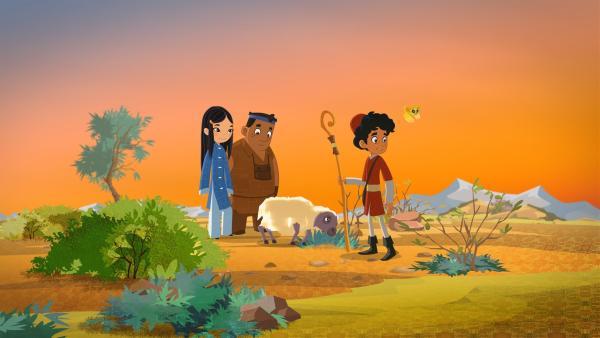 ShiLa, Luigi und Marco hüten Schafe. | Rechte: MDR/MotionWorks