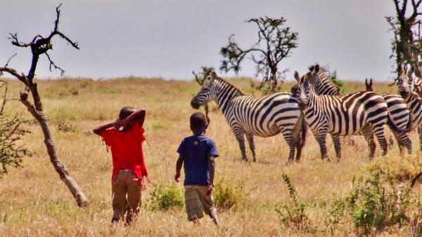 Emily und John bei den Zebras | Rechte: SWR/FF-movie.tv Film- und Fernsehproduktion
