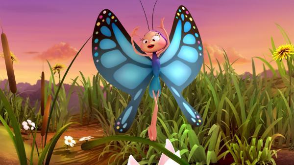 Beatrix freut sich auf den Schmetterlingsball. | Rechte: ZDF/Studio100 Animation