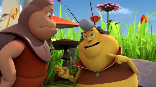 Der Gesang der Gartenhummel Elvis gefällt nicht jedem Käfer | Rechte: ZDF/Studio100 Animation