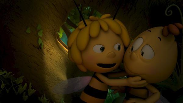 Maja und Willi sind honigdicke Freunde. | Rechte: ZDF/Studio100 Animation