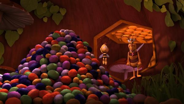 Die Pollenlagerkontrolle gerät außer Kontrolle.   Rechte: ZDF/Studio100 Animation